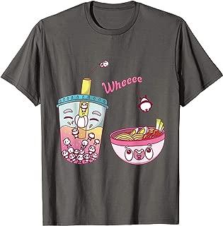Cute Boba Bubble Milk Tea And Ramen With Kawaii Pandas Gift T-Shirt