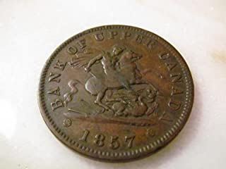 1857 Bank of Upper CANADA One Penny Bank Token