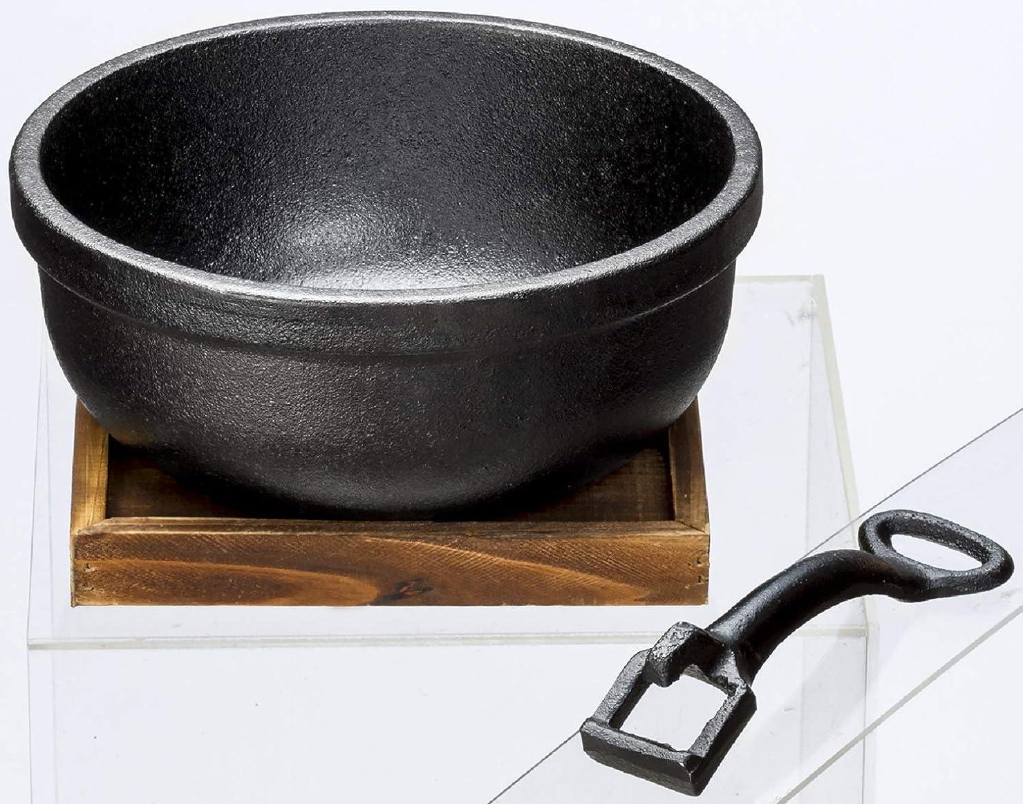 イシガキ産業 ビビンバ鍋 鉄鋳物 18cm 8個セット