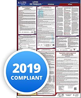 2019 Utah Labor Law Poster, All-in-One OSHA Compliant UT State & Federal Laminated Poster (26