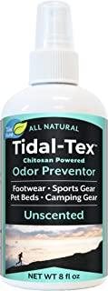 Tidal-Tex Natural Odor Preventor Spray for Shoes and Feet, Sportswear, Pet Beds, Camping Gear, 8oz - Natural Foot Deodorizer - Eliminate Smelly Shoes!