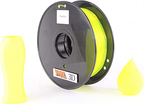 FLEXIBLE FILAMENT 1.75 MM BY WOL 3D (Yellow)