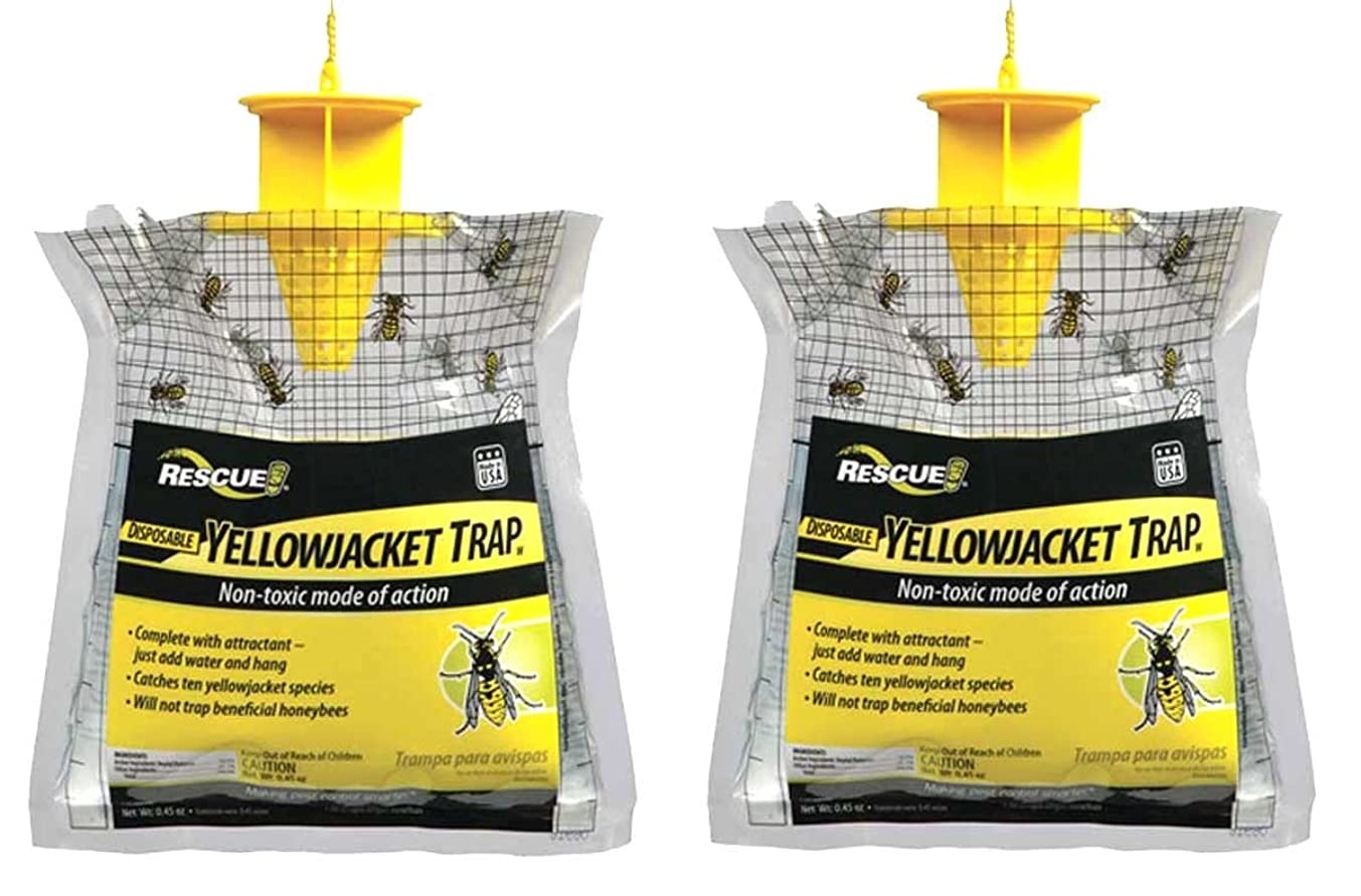 RESCUE YJTD-W Disposable Yellow Jacket Trap, West of The Rockies (2 Pack)