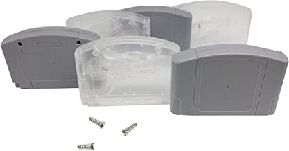 WiCareYo 6pcs/set Housing Case Cartridge Card Shell Cover with screws For N64 Gray and Clear color