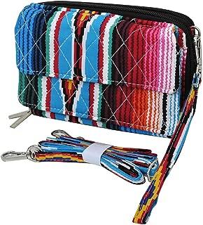 JP Serape Aztec Chevron Messenger Bag Wristlet Wallet Purse Combo Black