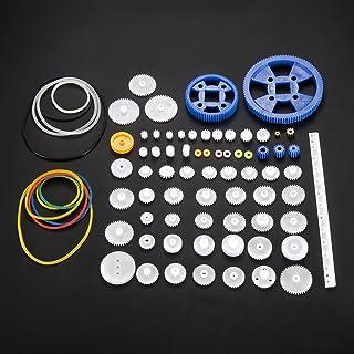 80pcs DIY Gear Kit Plastic Gearbox Motor Set Worm Gears for DIY Car Robot