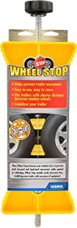 Camco RV  Wheel Stop- Stabililizes Your Trailer by Securing Tandem Tires to Prevent Movement While Parked- 26 to 30  Tires- Small (44652)