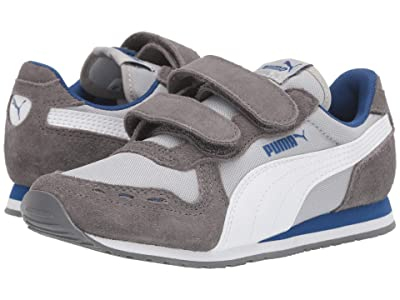 Puma Kids Cabana Racer NL V (Little Kid) (High-Rise/Castlerock/PUMA White/Galaxy) Boys Shoes