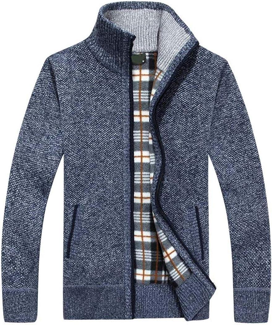 DGFWERHY Men's Sweaters Superior Autumn Regular discount Winter Cashmere Zipper Wool Warm