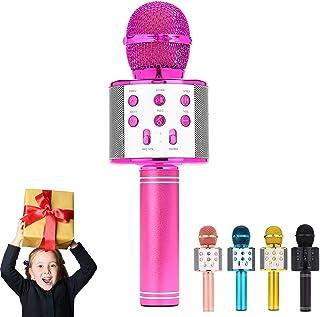 ULTRA INFINITY Wireless Microphone, Portable Cordless Mic Handheld Karaoke Family Kids Player KTV Speaker for Children Day...