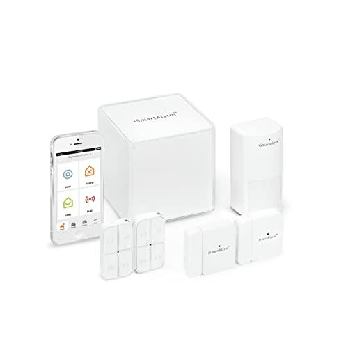 iSmartAlarm Preferred Home Security Package | Wireless DIY No Fee IFTTT & Alexa Compatible iOS & Android App | iSA3, White