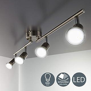 B.K.Licht - Lámpara de techo con 4 focos LED GU10, focos