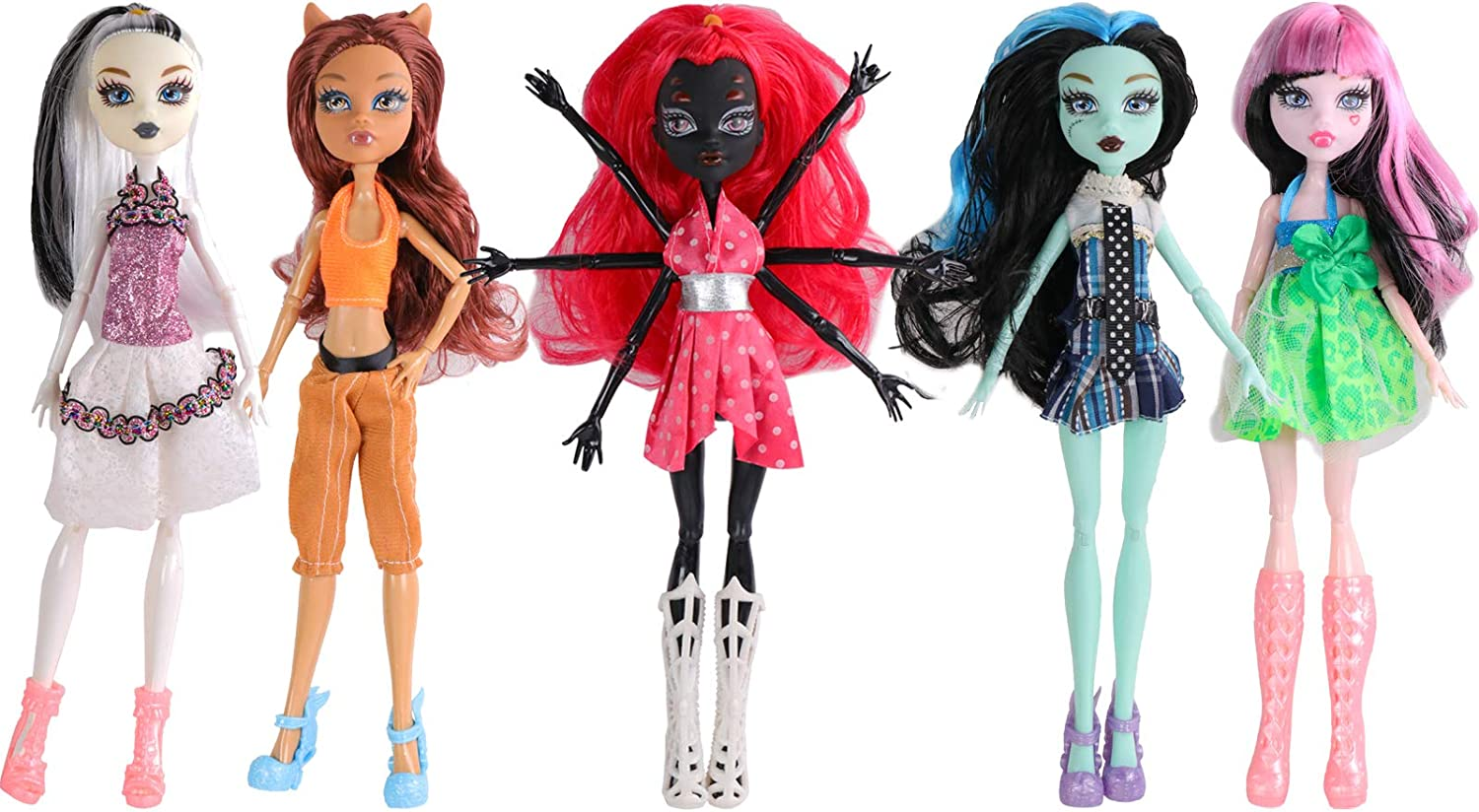ONEST 5 Sets 11 Alternative dealer quality assurance Inch Monster Pieces Girl Dolls Include Mo