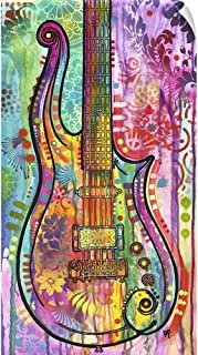 CANVAS ON DEMAND Prince Cloud Guitar Wall Peel Art Print, 27