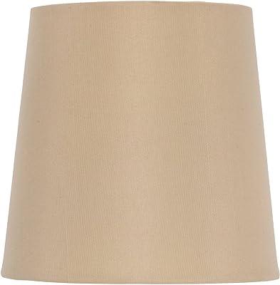 Amazon.com: Marfil lino con ribete de color gris lámpara de ...