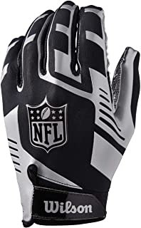 Wilson Wilson NFL Stretch Fit Receivers Gloves Blk//Silver DS