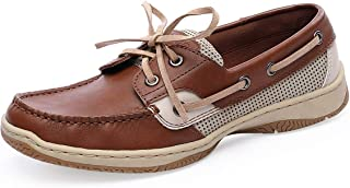 Women's Comfortable Walking Lace-Up Loafer Breathable Mesh Slip On Casual Boat Shoe