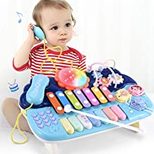Baby Toys Musical Learning Table -Early Education Music Activity Center Multiple Modes Game Table Toddlers, Infant, Kids T...