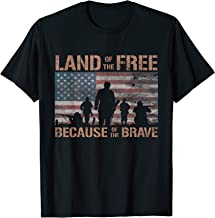 Land Of The Free Because Of The Brave American Flag T-Shirt
