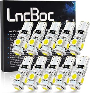 LncBoc Bombillas LED T10 Coche W5W 194 168 2825 501 LED