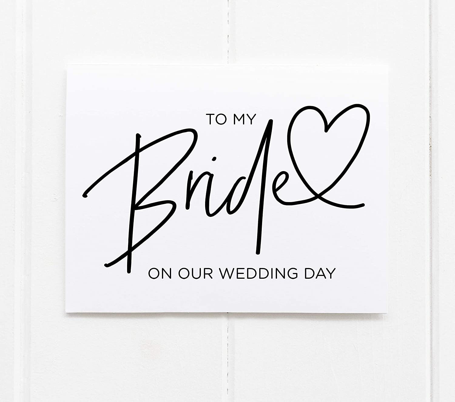 To New item My Bride on our Bombing free shipping Wedding Day Card Groom from Black and White M
