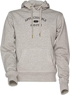 51c62fab1e Vendax Applecrumble and Fish Unisexe Homme Femme Sweat À Capuche Sweat-Shirt  Gris Men's Women's