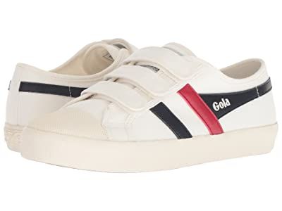 Gola Coaster Velcro (Off-White/Navy/Red) Women