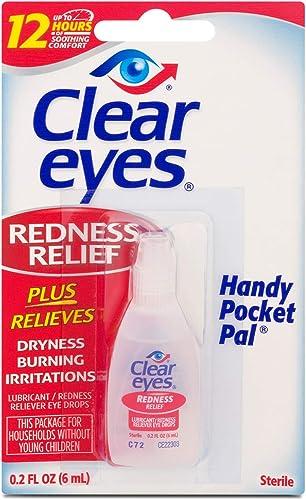 Clear Eyes Hand Pocket Pal Redness Relief Eye Drops, 0.2 Fl Oz