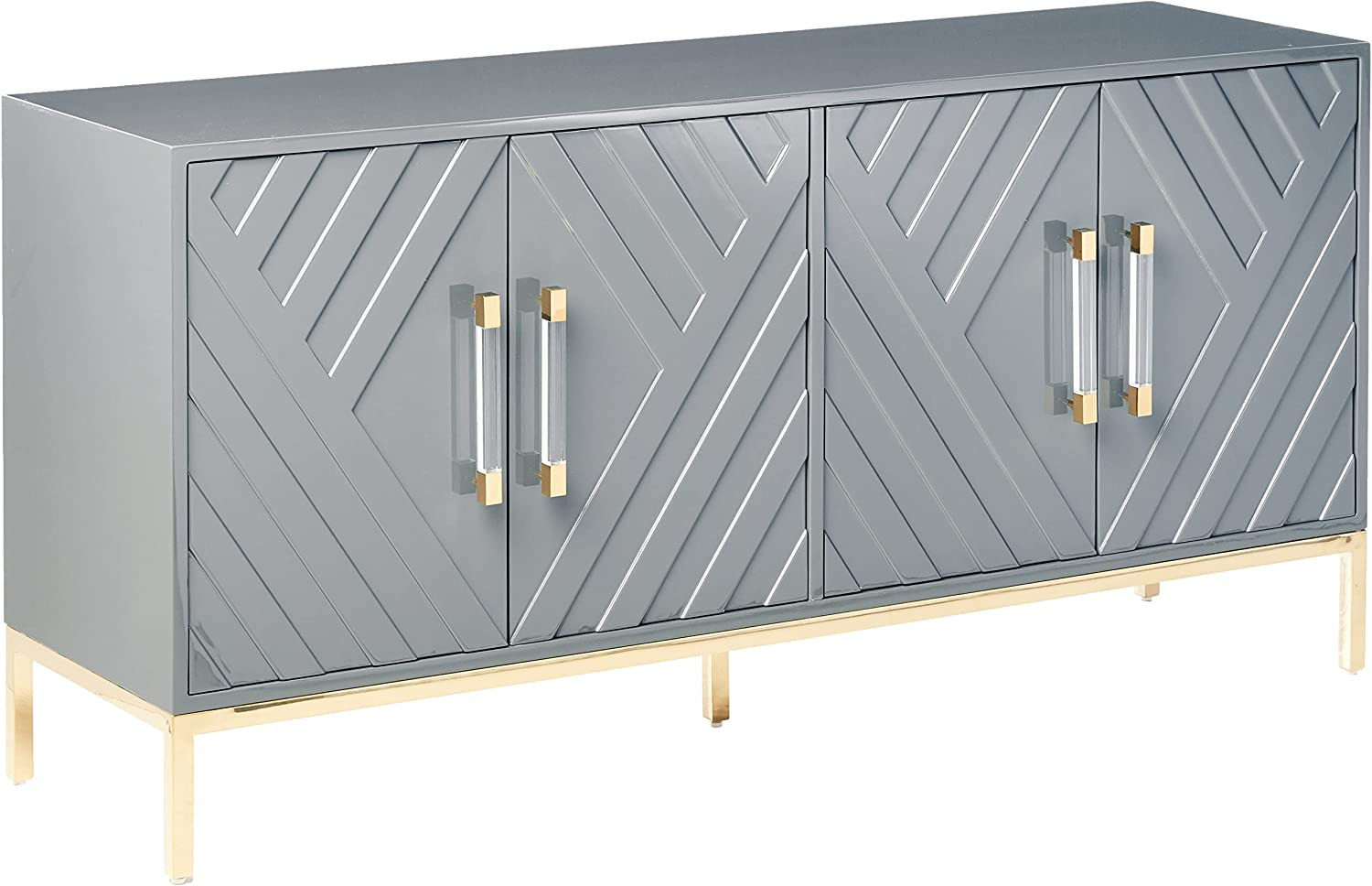 Special price for a limited time Best Master Furniture Tamari High Gloss Buffet Lacquer safety Sideboard