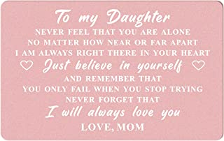 Daughter Gifts Wallet Card from mom, To My Daughter Never Forget I Love You, Daughter Wedding Card Gifts from Mother, Coll...