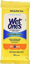 Wet Ones Citrus Antibacterial Hand Wipes, 20 Count