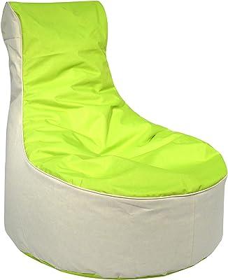 Kinzler S-10121/120 outdoorfähiger Sitzsack /Sessel, ca. 80x80x90 cm, 2-farbig, grün