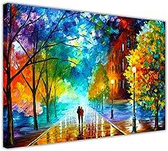 01- A4-12 X 8 30CM X 20CM Ristampa su tela del dipinto a olio Solitudine autunnale di Leonid Afremov Tela