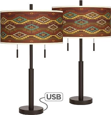 Amazon.com: Laguna Stripes Robbie - Juego de 2 lámparas de ...