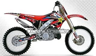 Kungfu Graphics Custom Decal Kit for Honda CR125 CR250 2000 2001, Black Red White