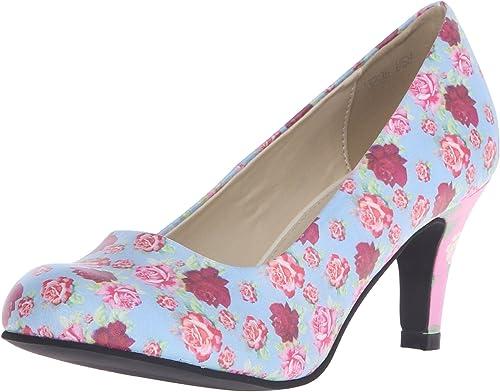 T.U.K. schuhe damen Pastel Floral Antipop Heels