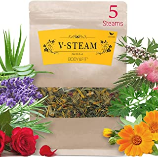Yoni Steaming Herbs (5 Steams, 5 oz), 8 types of Organic Herbs -Rosemary, Lavender, Aloe Vera, Calendula and more - Detox,...