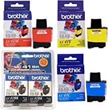 Brother LC41 Black Ink Twin Pack with Standard Yield Color Ink Cartridge Set