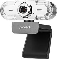 PC Webcam 1080P, PAPALOOK PA452 Pro Web Camera Videochiamata Full HD con microfono, Messa a Fuoco Manuale e Fotocamera...