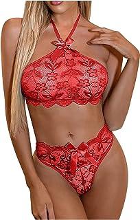 ملابس داخلية نسائية مثيرة للنساء ملابس داخلية (اللون: أحمر، مقاس الكأس: 2X-Large)