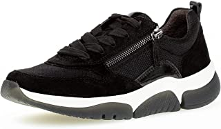 Gabor Rollingsoft Sneaker, Mesh/Samt/Lack k, schwarz, Wechselfußbett 76.938.37