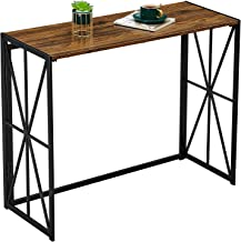 Console Sofa Table for Entryway No Assembly Small Living Room Wall Table for Hallway Folding TV Entrance Table Industrial ...