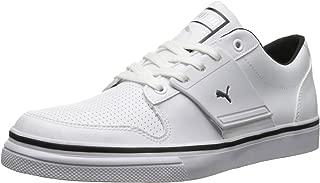 PUMA El Ace 2 Leather Men's Sneakers Size US 8, Regular Width, Color Black/White