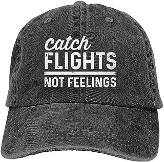 Nagetive Catch Flights Not Feelings Unisex Adjustable Hat Travel Sunscreen Caps