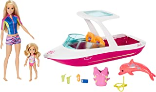 Barbie Dolphin Magic Ocean View Boat & Doll Giftset
