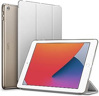ESR iPad 8 ケース 2020 iPad 8/7 ケース 10.2インチ 2020/2019モデル 第8/7世代用 ケース 半透明 薄型 軽量 傷防止 オートスリープ/ウェイク機能 三つ折りスタンド ハードカバー グレー