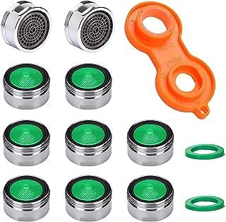 Förpackning med 10 M24 blandare kran luftningsmunstycken med ABS-filter, inkluderar blandare munstycksnyckel