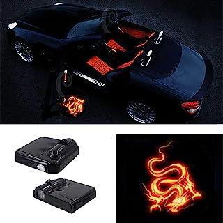 چراغ درب اتومبیل بی سیم Premium Lighted Easy Installed Welcome Laser Projector Pastable Logo Light Holeless Ghost Shadow Lamp Logos تعویض برای همه لوازم جانبی اتومبیل 2 عدد (BAT)