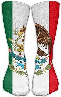 Hunter qiang, Calcetines tobilleros unisex con la bandera de México (50 cm)