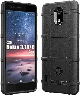 Sucnakp,Nokia 3.1A Case,Nokia 3.1C Case, Heavy Duty Shock Absorption Phone Cases Impact Resistant Protective Cover for Nokia 3.1 A Case,Nokia 3.1 C Case(New Black)